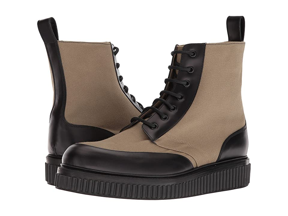 Paul Andrew Aiden Canvas Leather Boot (Mortar/Black) Men