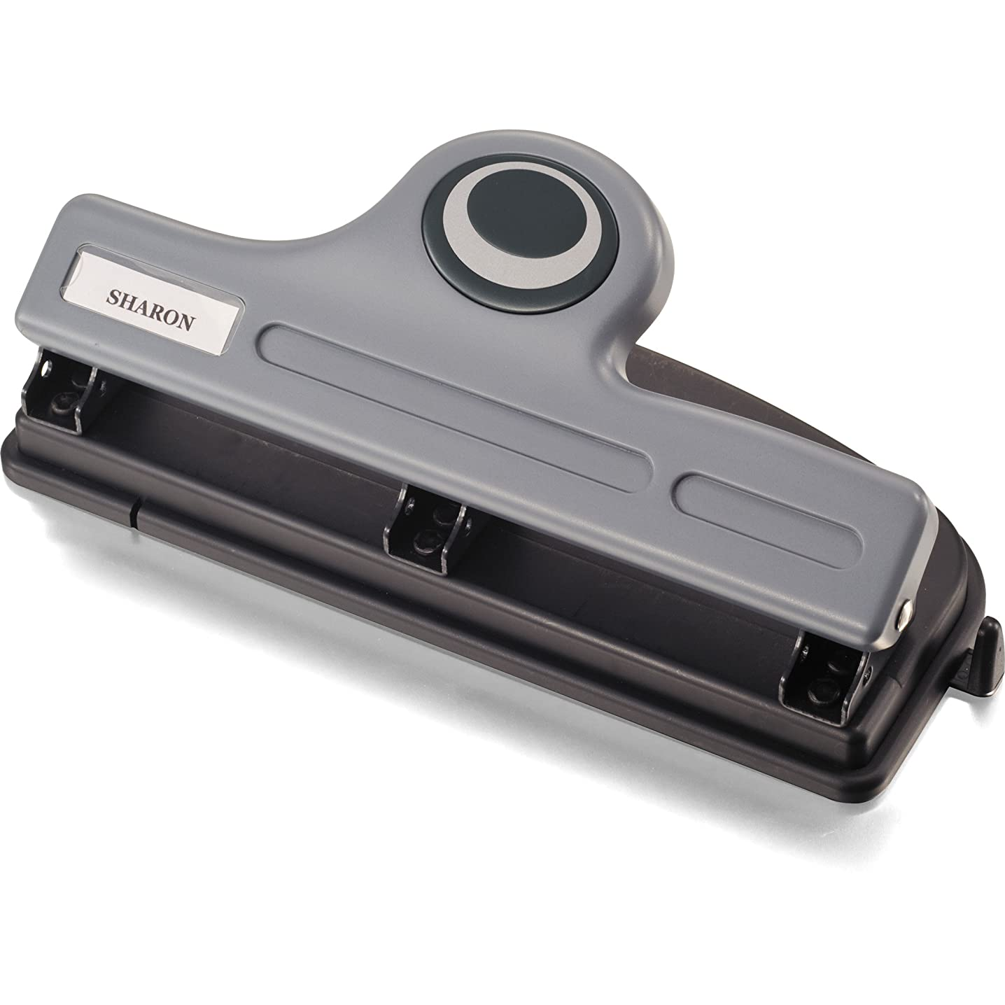 Officemate Contemporary Medium Duty 3-Hole Eco-Punch, 20-Sheet Capacity, Recycled, Black/Gray/Green (90132)