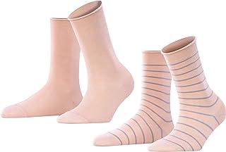 FALKE Happy Stripe 2-Pack Damen Socken BLOSSOM 8645 35-38 Baumwollstrumpf für jedes Outfit