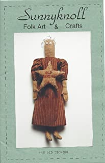 Old Ticking Primitive Doll Pattern #48 from Sunnyknoll Folk Art & Crafts Finished Size 20
