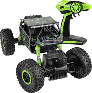 Click N' Play Remote Control Car 4WD Off Road Rock Crawler Vehicle 2.4 GHz, Green