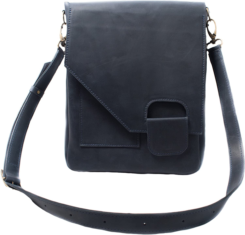 InCarne Leather Unisex Crossbody Handbag Tote Unisex Soft Leather Satchel Shoulder bag (07013)