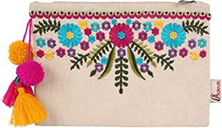 Aakrutii Eco Friendly Cotton Zipper Pouch for Women (Natural Beige)