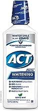 ACT Whitening + Anticavity Fluoride Mouthwash 16.9 fl. oz. with Zero Alcohol, Dye Free, Gentle Mint