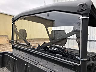 A&S AUDIO AND SHIELD DESIGNS 2016-2020 CAN-AM DEFENDER REAR 316 STANDARD POLYCARBONATE WINDSHIELD