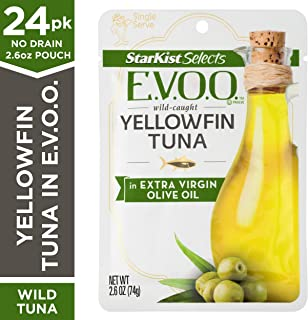 StarKist Selects E.V.O.O. Yellowfin Tuna in Extra Virgin Olive Oil - 2.6 oz Pouch (Pack of 24)