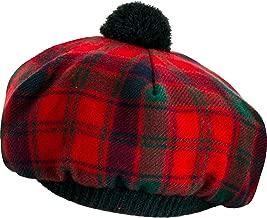 Tammy Hat Tam O' Shanter Robertson Red Modern Tartan Modern Lambswool
