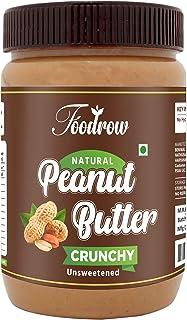 foodrow Natural CrunchyPeanut Butter | No Added Sugar | No Added Salt (500)
