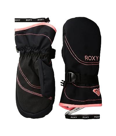 Roxy Roxy Jetty Solid Girl Mitt (Little Kids/Big Kids) (True Black) Extreme Cold Weather Gloves