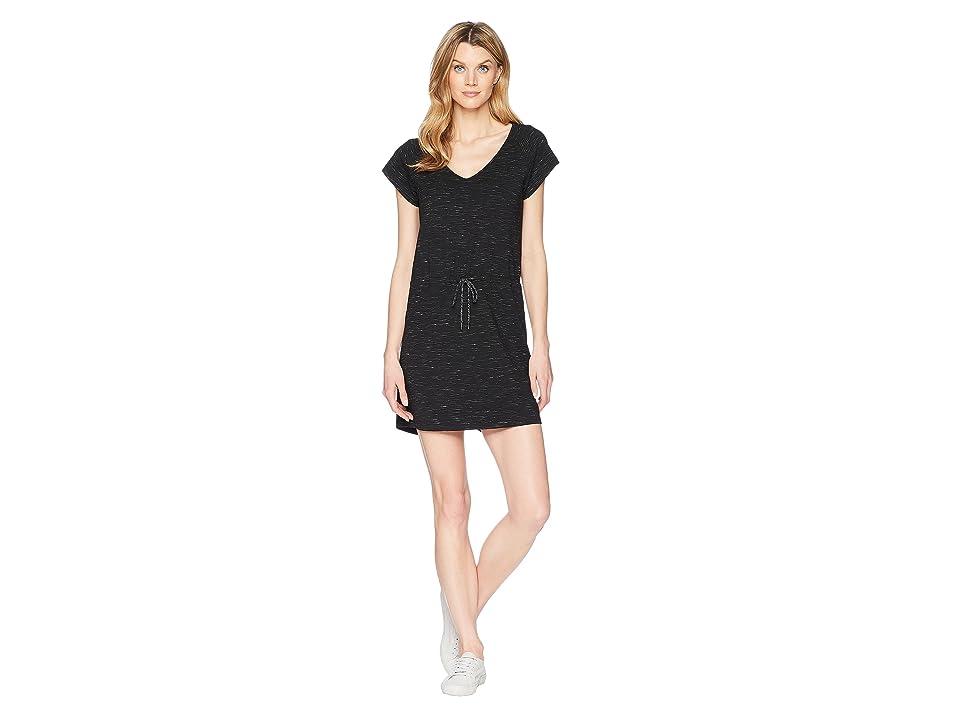 Lilla P Short Sleeve V-Neck Dress (Black/White 1) Women