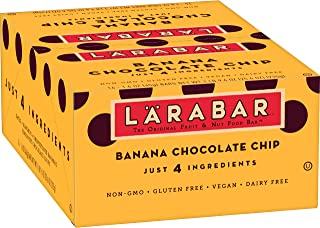 Larabar, Fruit & Nut Bar, Banana Chocolate Chip, Gluten Free, Vegan, 16 ct