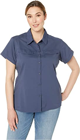 303b5cd33 LAUREN Ralph Lauren. Plus Size Cotton Voile Shirt. $79.99MSRP: $99.50. Plus  Size Silver Ridge™ Lite Short Sleeve Shirt