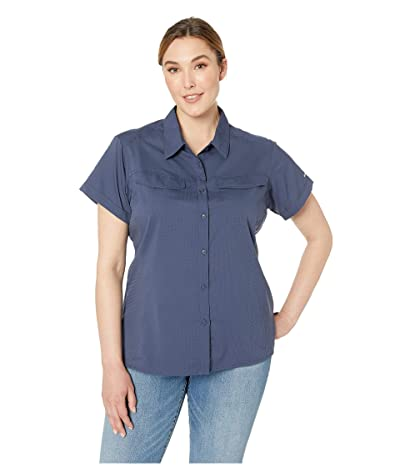 Columbia Plus Size Silver Ridgetm Lite Short Sleeve Shirt (Nocturnal) Women