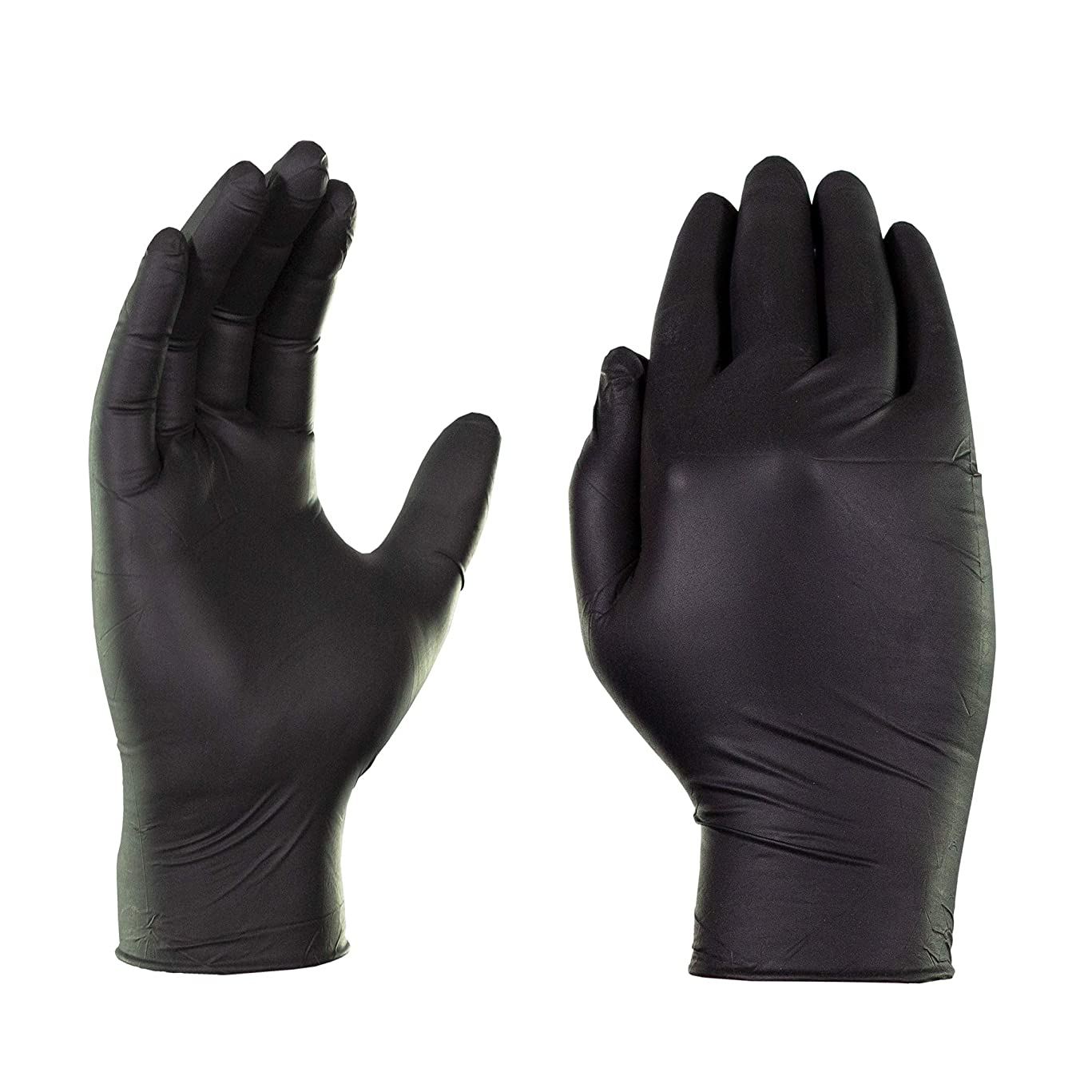 AMMEX - GPNB46100-BX - GlovePlus - Nitrile Disposable Gloves - Powder Free, Industrial, 5 mil, Large, Black (Box of 100)