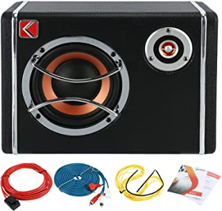$44 » Patioer 6 Inch Under Seat Car Low Sound Sub Woofer Powered Active Bass Amplifier