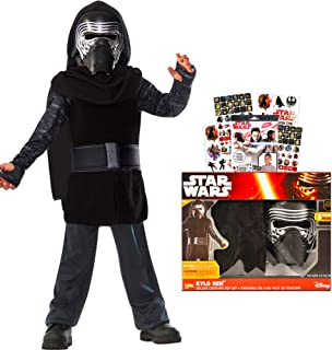 Kylo Ren Costume for Kids Boys with Mask and Tattoos (4 Pc, Size 4-6)