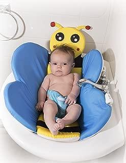 Cozy Mouse Baby Bath Tub Insert Infant Sink Bath Newborn Bath Sponge Baby Bath Pillow (Blue)