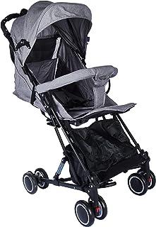 baby plus BP9102 Standard Strollers, Grey - Pack of 1