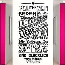Wandora W1518 Muurtattoo spreuk familie regels I bruin (B x H) 58 x 120 cm I familie regels hal woonkamer muursticker muur...