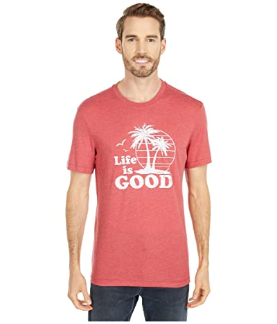 Life is Good Vintage Palms Cool Teetm (Faded Red) Men