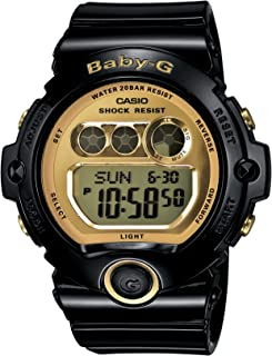 Women's BG6901-1 Baby-G Black Resin and Gold-Tone Accented Large Digital Sport Watch