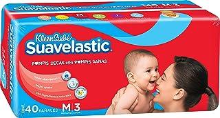 KleenBebé Pañal Desechable para Bebé Suavelastic, Unisex, Mediano, 40 Cuentas