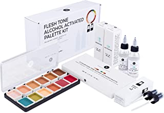 Narrative Cosmetics 12 Color Flesh Tone Alcohol Activated SFX Makeup Palette Kit - Includes Alcohol Activator and Moisturi...