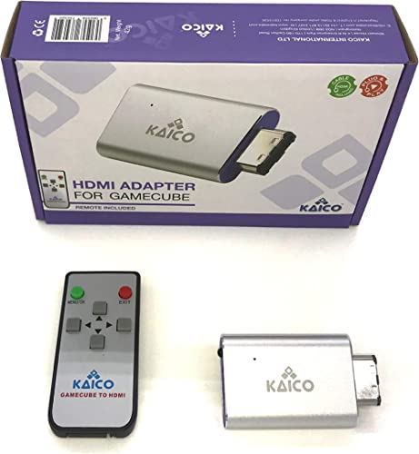 Gamecube HDMI Adapter Lead for The Nintendo Gamecube Running GCVideo Software. Supports 2X Line-Doubling and Includes...