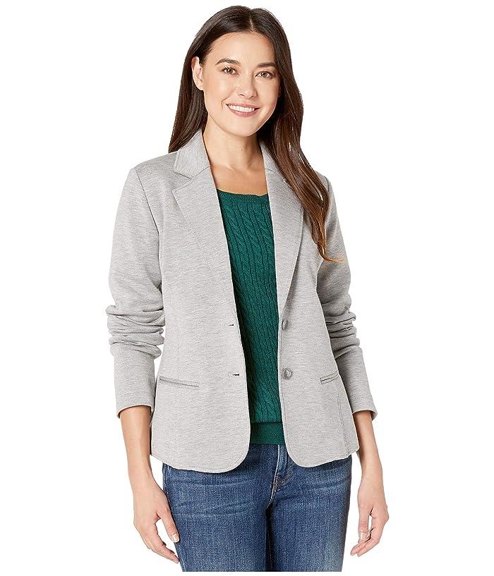 Double Knit Blazer (Soft Grey/Taupe) Women's Coat