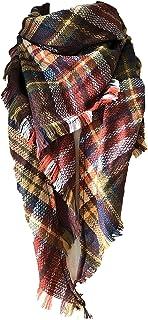 روسری شال بلند Wander Agio زنان روسری های بزرگ را بافته می کنند گره کشمیر را احساس می کنید روسری مثلثی باریک