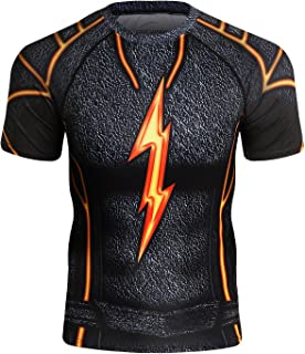 Men's Compression Sports Fitness Short Sleeve Training Base Layers Shirt