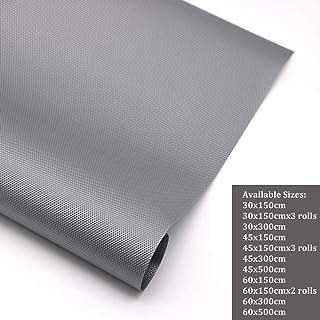 Hersvin 60x500cm (Tamaño Grande) Alfombra Antideslizante de EVA para Cajon, No Adhesivo, Impermeable Proteger Estantes, Cocina Gabinete, Refrigerador, Mesas (Gris/Diamante, 60X500cm)
