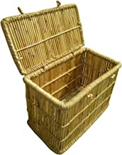 Ecowoodies Large Gazania Bamboo Laundry Storage Baskets, Toys Kitchen Boxes for Clothes (Size : 29x16x20 Inches)