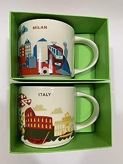Starbucks Italy & Milan You Are Here YAH Coffee Set of 2 Mugs