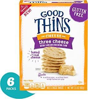 Good Thins Gluten Free Three Cheese Crackers (Pack Of 6)
