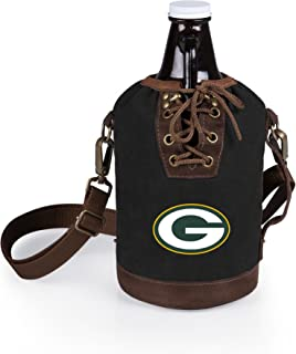 NFL Canvas Lace-up Growler Tote with  Amber Glass Growler
