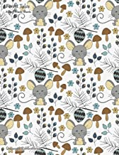 Forest Tales 8-Staff Music Sheets: Large 8-Staff Music Notation and Songwriting Notebook With Sweet Mouse and Mushrooms Pattern Cover
