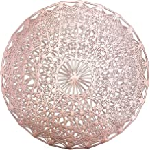 MLADEN Round Placemats Set of 4, Creative Place Mats Wedding Accent Centerpiece, Charger for Holiday and Decor, Rose Gold