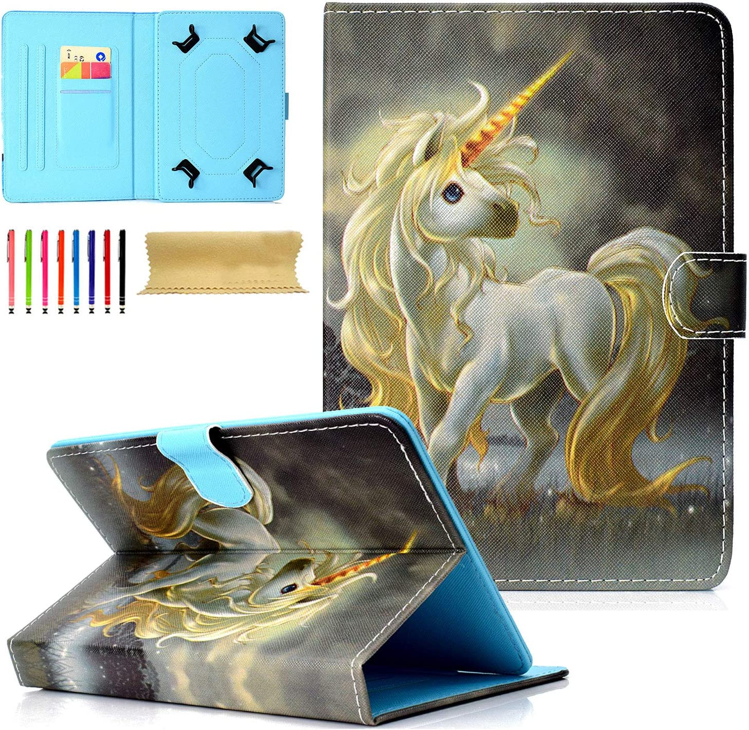 Universal Folio Case for 7 inch Tablet Multi-A Cookk PU High order Leather Translated