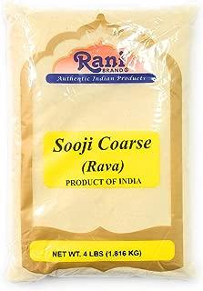 Rani Sooji (Farina,Suji, Rava) Coarse, Flour 4lb (64oz) ~ Natural NON-GMO
