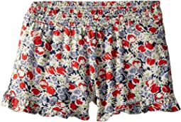 Floral Ruffled Challis Shorts (Toddler)