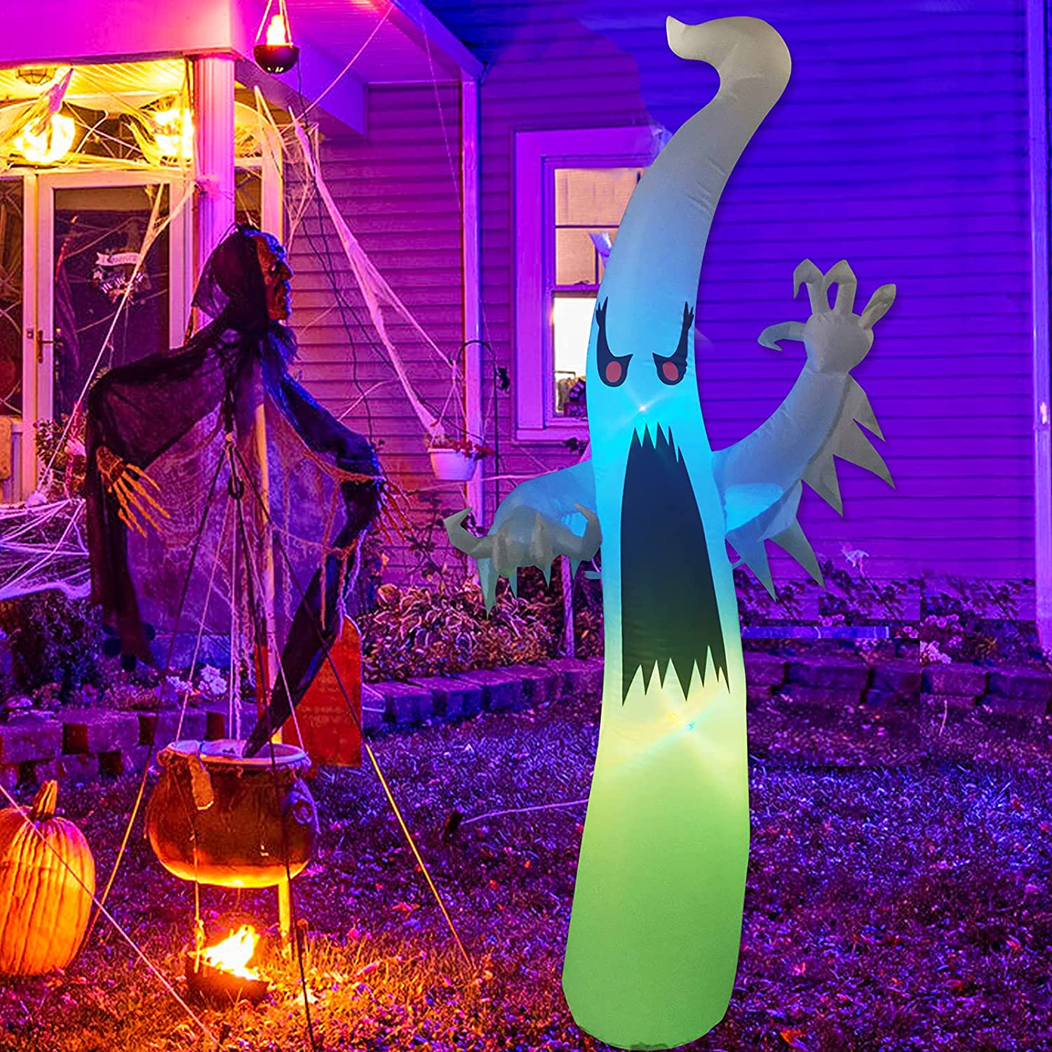 GOOSH 6 FT Dedication Height Courier shipping free shipping Halloween Outdoor Dimming Inflatable Colorful