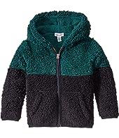 Two-Tone Sherpa Hoodie Jacket (Toddler/Little Kids/Big Kids)