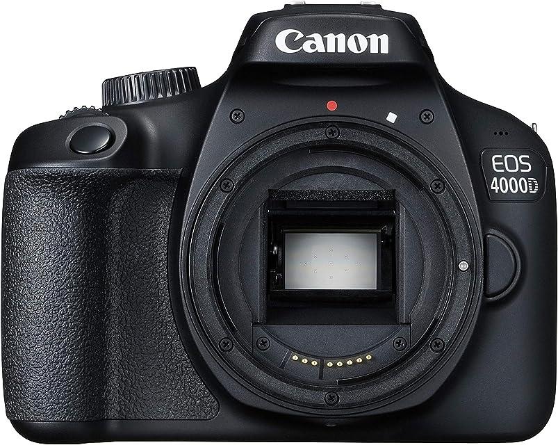 Canon EOS 4000D Cuerpo de la cámara SLR 18 MP 5184 x 3456 Pixeles Negro - Cámara Digital (18 MP 5184 x 3456 Pixeles Full HD 436 g Negro)