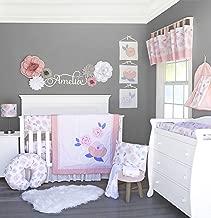 Pam Grace Creations Watercolor Rose 13 Piece Crib Bedding Set