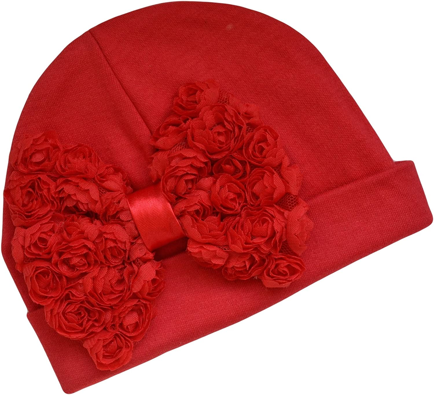Shabby Chiffon Rosette Branded goods Bow excellence Baby Cotton Hat