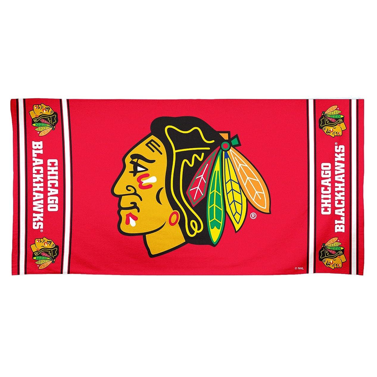 ブームバトル違反NHL Chicago Blackhawks 30?by 60?Fiber Reactiveビーチタオル