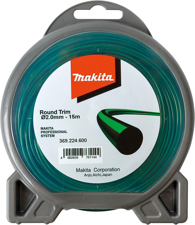 Makita - Cuerda de nylon de 2 mm x 15 m para cortadora, color verde: Amazon.es: Bricolaje y herramientas