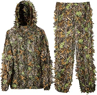 DoCred Ghillie Suit for Men, 3D Lightweight Hooded...