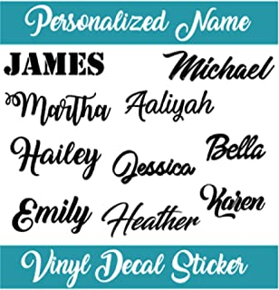 Personalized Name Decal Sticker I Yeti Rambler Decal Tumbler Cup Name Decal